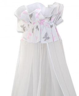 Obrázok Luxusné moskytiéra 170x400 cm Motýlci růžoví
