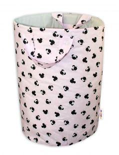 Obrázok Bavlnený kôš na hračky Minnie - ružový / sivý