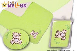 Obrázok Deka / dečka froté / velúr - Medvedík Teddy Bear - zelená