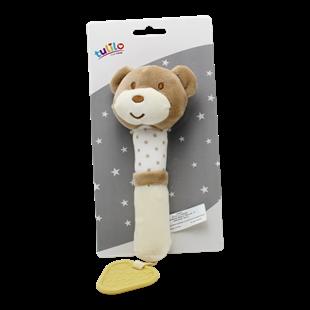 Obrázok Plyšová hračka túlil s pískátkem Macko, 17 cm - sv. hnedý