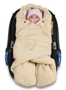 Obrázok Detská zavinovačka, fusak polar, bio bavlna - béžová