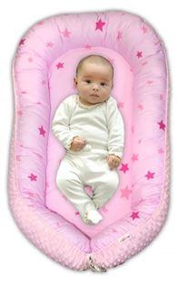 Obrázok Maxi obojstranné hniezdočko Minky Baby Stars, sv.ružová Minky, K19