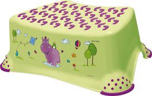 Obrázok Stolička, schodík s protišmykovou funkciou - Hippo - limetka