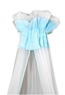 Obrázok Luxusné moskytiéra 160x400 cm - Medvedík Maxik - biela, mätová