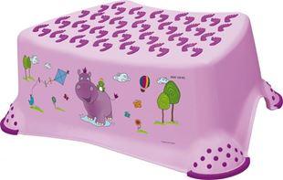 Obrázok Stolička, schodík s protišmykovou funkciou - Hippo - fialová
