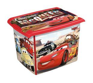 Obrázok Box na hračky, dekoračné Cars 20,5 l - čierna / červená