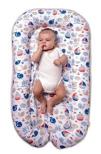 Obrázok Maxi obojstranné hniezdočko pre bábätko Oceán Baby - modrý