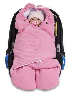 Obrázok Detská zavinovačka, fusak polar, bio bavlna - ružová