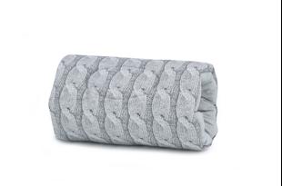 Obrázok Bavlnený dojčiace vankúš na ruku Pletený vrkoč - sivý