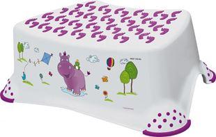 Obrázok Stolička, schodík s protišmykovou funkciou - Hippo - biela