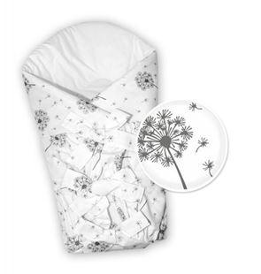 Obrázok Baby Nellys Klasická retro šnurovacie zavinovačka Púpavy - biela