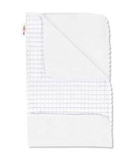 Obrázok Luxusné bavlnená dečka s Minky 75x75 cm, biela / biela