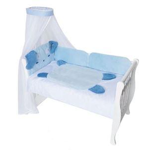Obrázok Mantinel s obliečkami a nebesami Animal, 120x90 - Psík modrý