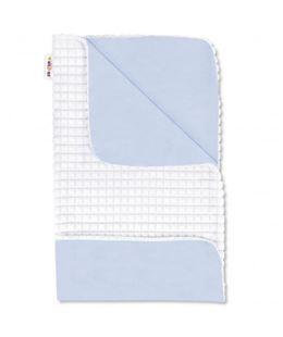 Obrázok Luxusné bavlnená dečka s Minky 75x75cm, biela / modrá