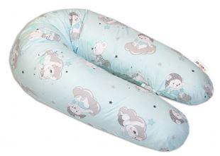Obrázok Bavlnený dojčiace vankúš - relaxačné poduška Mráček - mätový