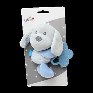 Obrázok Plyšová hračka s hryzátkom Psík, 16 cm - modrý