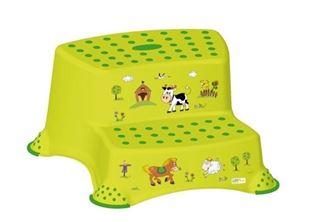 Obrázok Stolička - schodíky s protišmykovou funkciou - Funny Farm - zelená