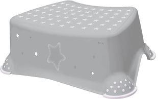 Obrázok Stolička, schodík s protišmykovou Baby Star - šedý, K19