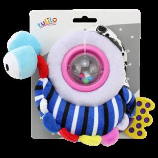 Obrázok Plyšová hračka s hrkálkou a hryzátkom Šneček, 18 cm