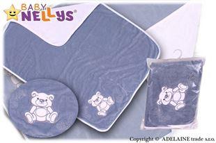 Obrázok Deka / dečka froté / velúr - Medvedík Teddy Bear- šedá