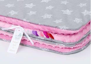Obrázok Detská deka Hviezdy 2 Minky 75x100 cm - rôzne farby a varianty