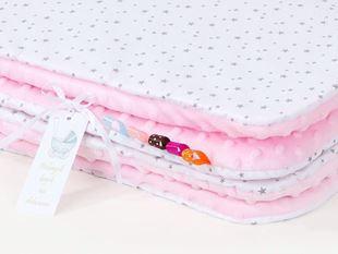Obrázok Detská deka Mini hviezdičky Minky 75x100 cm - rôzne farby a varianty