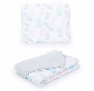 Obrázok Detská deka s vankúšom Pierka Velvet Lux 75x100 cm - rôzne farby a varianty
