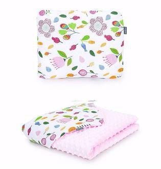 Obrázok z Detská deka s vankúšom Lúka Minky 75x100 cm - rôzne varianty