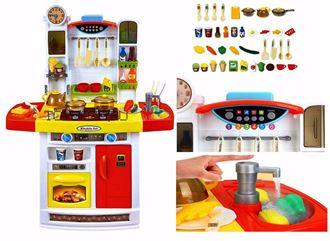 Obrázok z Veľká detská kuchynka s tečúcou vodou a chladničkou
