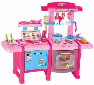 Obrázok z Detská kuchynka so zvukmi s chladničkou a pekárňou