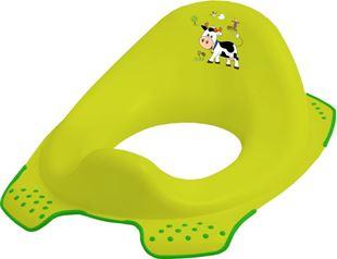 Obrázok Adaptér - tréningové sedátko na toaletu Funny Farm - zelený