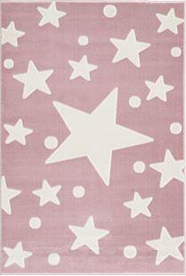 Obrázok Detský koberec Hviezdy - ružovo-biely Stars 100x160 cm