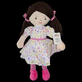 Obrázok Handrová bábika Malvínka, 40 cm - ružová