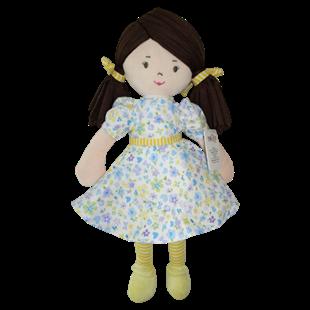 Obrázok Handrová bábika Malvínka, 40 cm - žltá