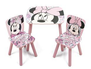 Obrázok Detský stôl s stoličkami Minnie Mouse - ružový