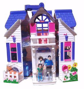 Obrázok Rozkladacie domček pre bábiky s psíkom