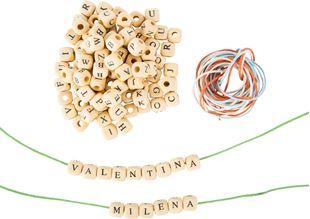 Obrázok Drevené navliekacie korálky s písmenkami