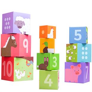 Obrázok Bigjigs Toys didaktické kocky farma