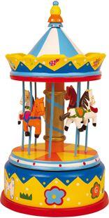 Obrázok Drevená hracia skrinka kolotoč Merry