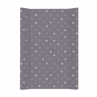 Obrázok Pevná prebaľovacia podložka 50x70 cm Hviezdičky - Tmavo šedá