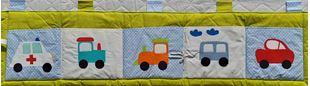 Obrázok Vreckár za posteľ veľký 200x50 cm - Traktor