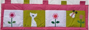 Obrázok Vreckár za posteľ 160x50 cm - Mačičky