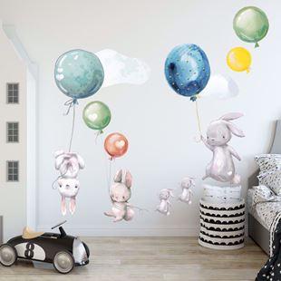 Obrázok Zajačikov a balóniky