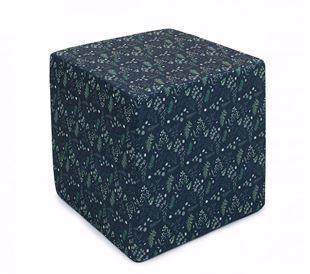 Obrázok Taburet Kocka Lístočky 40x40 cm