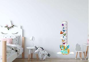 Obrázok Meter na stenu - Jednorožec a motýle