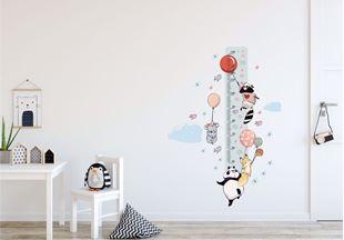 Obrázok Meter na stenu - Zvieratká a balóniky