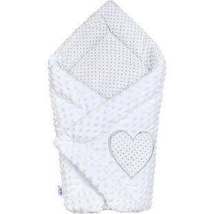Obrázok Luxusné Zavinovačka z Minky biela 73x73 cm