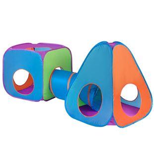 Obrázok Detský stan 3v1 oranžovo-modrý