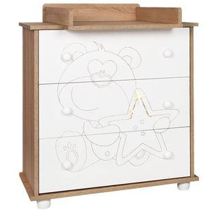 Obrázok Detská komoda Medvedík s hviezdičkou dub