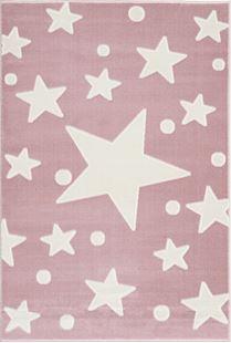 Obrázok Detský koberec hviezdy - ružová-biela 120x180cm